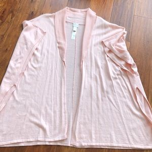 Chico's OS pale pink sweater poncho